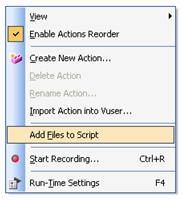 Add Files to Script