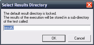 The result directory is locked